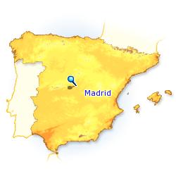 Madrid Capital De España Mapa.Madrid City Business Centre Santiago Bernabeu Paseo De La